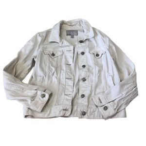 Vintage Old Navy White Jean Jacket